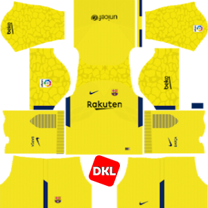 F.C. Barcelona Dls/Fts Kits and Logo GK Third - 2017-2018 Dream League Soccer