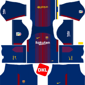 F.C. Barcelona Dls/Fts Kits and Logo Home - 2017-2018 Dream League Soccer