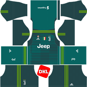 Juventus Dls/Fts Kits and Logo GK Home - 2018-2019 Dream League Soccer