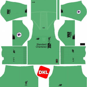 Liverpool Dls/Fts Kits and Logo GK Away - 2019-2020 Dream League Soccer
