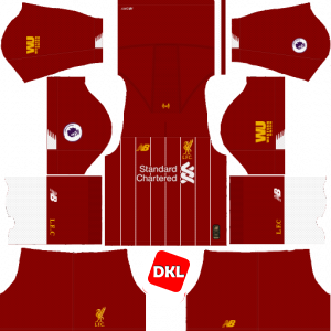 Liverpool Dls/Fts Kits and Logo Home - 2019-2020 Dream League Soccer