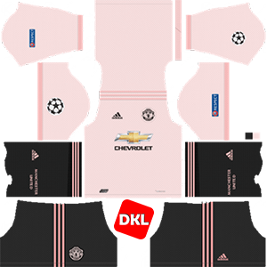 MANCHESTER UNITED Dls/Fts Kits and Logo Badge Away - 2018-2019 Dream League Soccer