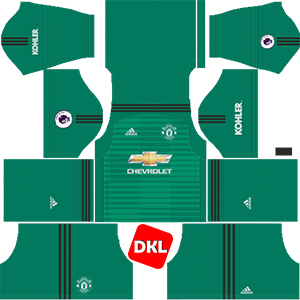 MANCHESTER UNITED Dls/Fts Kits and Logo GK Home - 2018-2019 Dream League Soccer