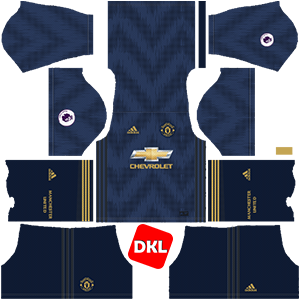 MANCHESTER UNITED Dls/Fts Kits and Logo Third - 2018-2019 Dream League Soccer