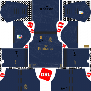 Real Madrid Nike 2019-2020 Dls/Fts Kits and Logo Away - Dream League Soccer