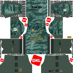 Real Madrid 2019-2020 Nike Dls/Fts Kits and Logo GK Away - Dream League Soccer