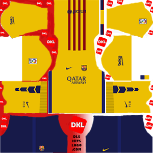 Dls Barcelona Kits 2015-2016 away