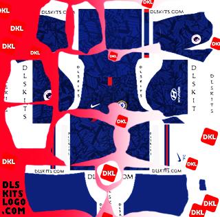 CHELSEA-2020-2021-DLS Kits Forma Home- Dream League Soccer