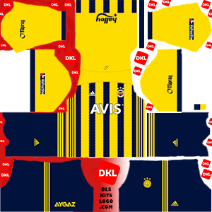Fenerbahce 2020-2021 DLS Forma Kits Logo ev sahibi - Dream League Soccer