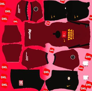 Galatasaray 2021 DLS Forma Kits Logo Deplasman - Dream League Soccer