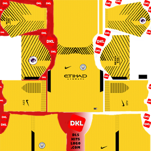 Manchester City 2017-2018 DLS Kits Forma gk-away - Dream League Soccer
