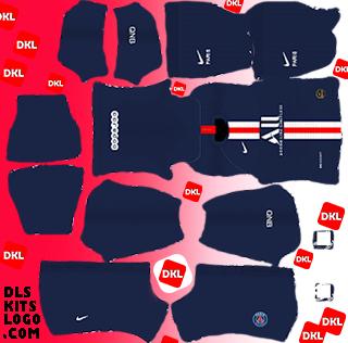 PSG-2020 DLS Kits Forma Home - Dream League Soccer