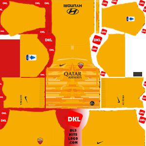 AS roma 2019-2020 DLS Kits Forma gk home - Dream League Soccer