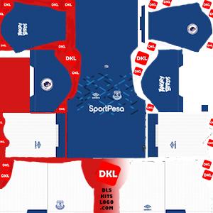 everton-fc-2020 DLS Kits home- Dream League Soccer