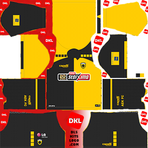 AEK FC 2020-2021 DLS Kits Form -home-Dream League Soccer