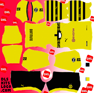 Dls Borussia Dortmund Kit 2020-2021 Home