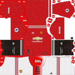 Manchester United 2021 DLS Kits Forma home- Dream League Soccer