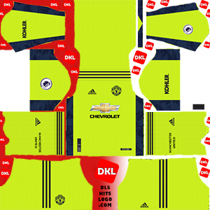 Manchester United 2021 DLS Kits Forma gk-home- Dream League Soccer