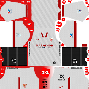 Sevilla 2020-2021 DLS Kits Form home-Dream League Soccer