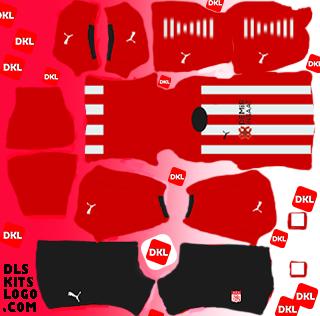 Sivasspor 2020-2021 DLS Kits Forma evsahibi2 - Dream League Soccer