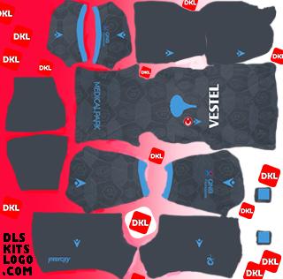 Trabzonspor 2020-2021 DLS Forma Kits Logo alternatif- Dream League Soccer
