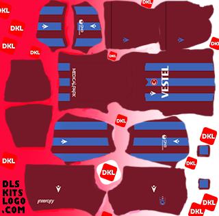 Trabzonspor 2020-2021 DLS Forma Kits Logo evshaibi- Dream League Soccer