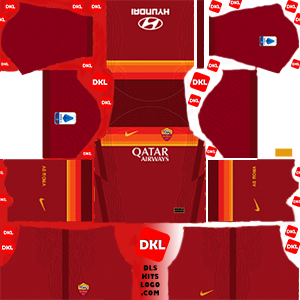 As Roma 2020-2021 DLS Kits Forma -home- Dream League Soccer