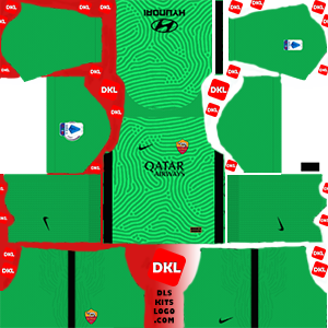As Roma 2020-2021 DLS Kits Forma gk-home- Dream League Soccer