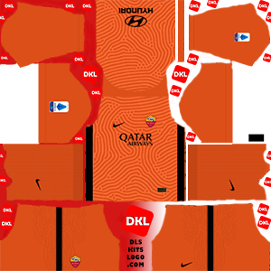 As Roma 2020-2021 DLS Kits Forma gk-away- Dream League Soccer