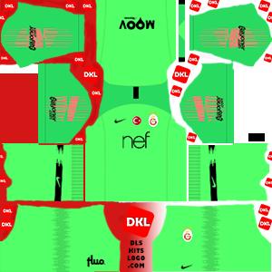 Galatasaray 2018-2019 DLS Forma Kits Logo -kaleci3-dream-league-soccer