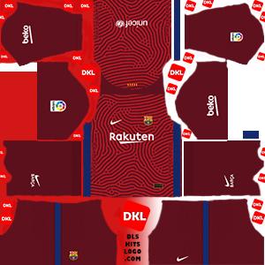 Dls-Barcelona-kits-2021-nike-gkaway -Dream League Soccer