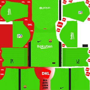 Dls-Barcelona-kits-2021-nike-gkhome -Dream League Soccer