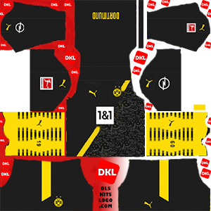 Dls-Borussia-Dortmund-kits-2021-away -Dream League Soccer