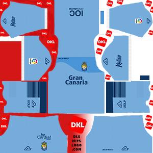dls-UD LAS PALMAS kits-2017-18-gkaway